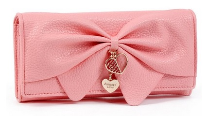 Cute Bow Design Girly Wallets