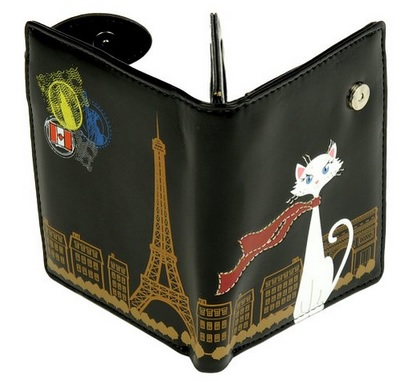 cat in paris cute wallet