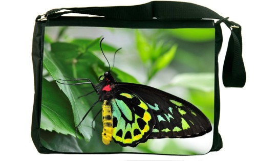 Green Butterfly Messenger Bag