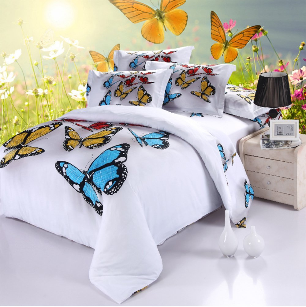 butterflies duvet cover set