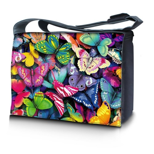 cute butterflies laptop bag