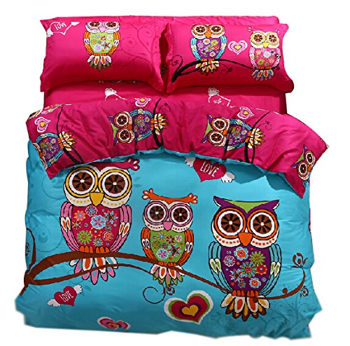 Cute Owl Bedding