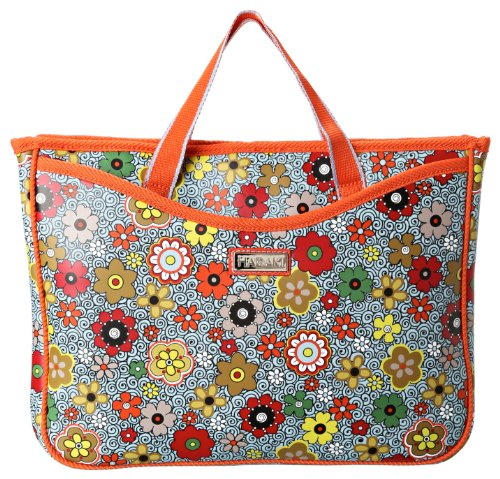 floral laptop tote bag