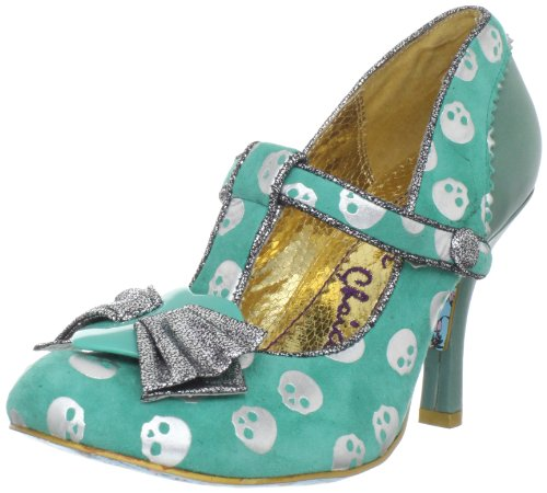 girly skull pumps blue