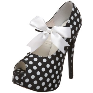 Cute Polka Dots High Heel Shoes