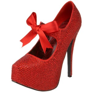 Red Platform Pumps