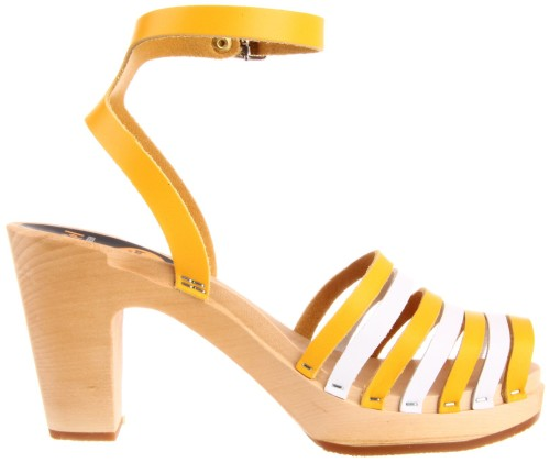 Cute Yellow and White Summer Sandals