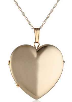 cute gold heart shaped locket for her