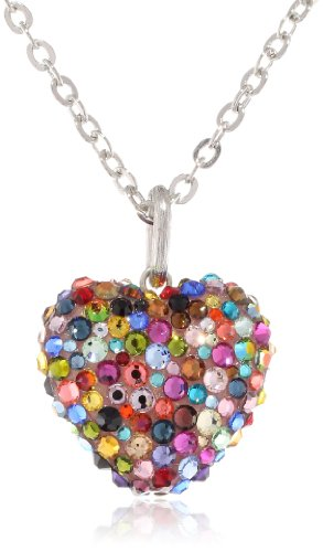 colorful heart necklace