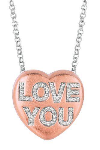 LOVE YOU Heart Pendant Necklace