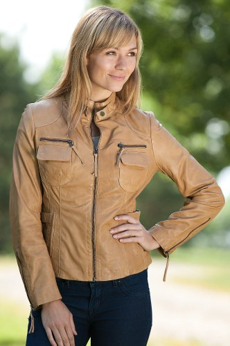 Home    Camel Spontaneous Colored Regular leather Jacket