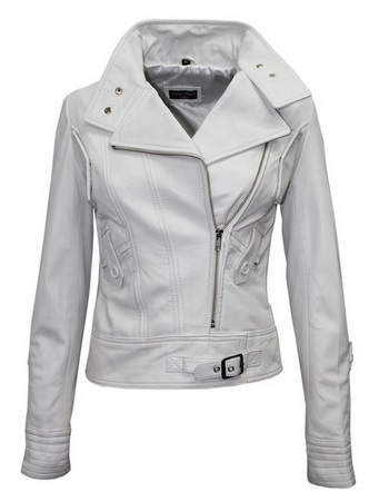 white leather jacket for women