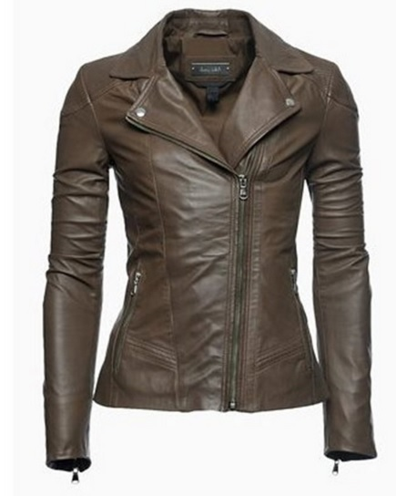 Chocolate Brown Lambskin Leather Jacket