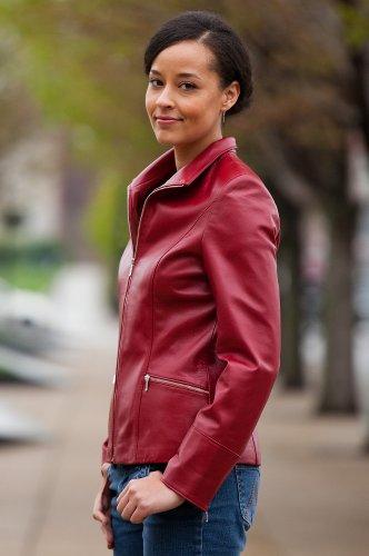 red Napa Lambskin Leather Jacket