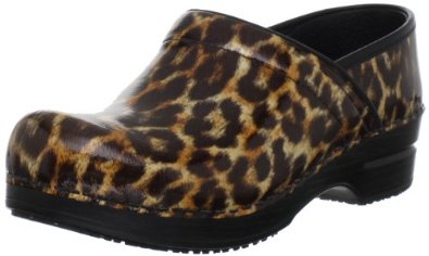 animal print womens clogs