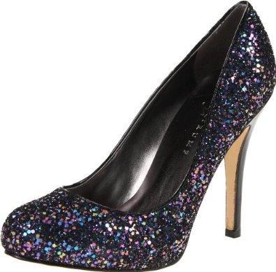 Ivanka Trump black glitter heels
