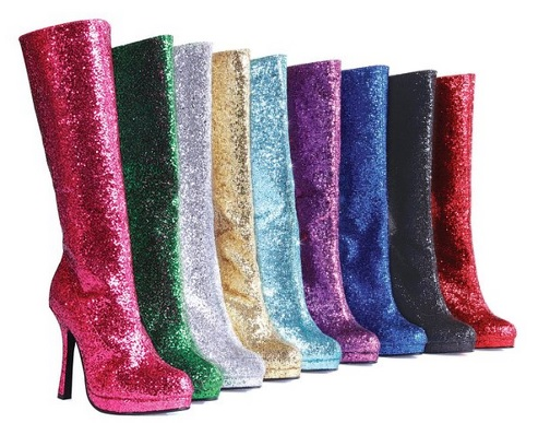 Colorful Glitter Boots for Women