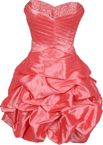 Beaded Taffeta Party Mini Bubble Dress