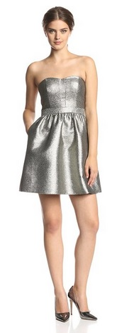 Cute Metallic Party Dress