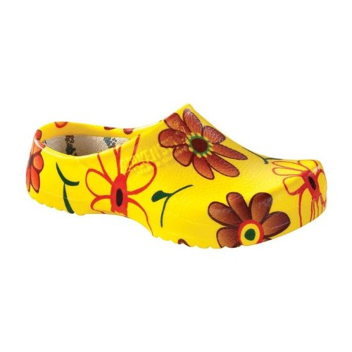 yellow flower clogs