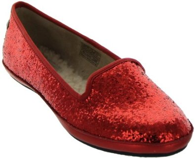 red Glitter Slippers