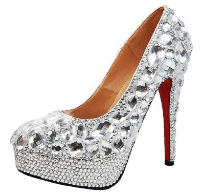 sparkly bridal pumps