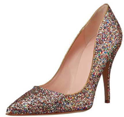 sparkly glitter pumps for women
