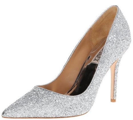 sparkly silver pumps for weddings