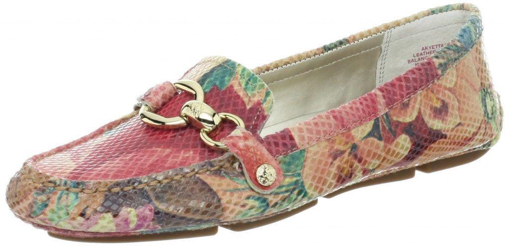 floral leather loafers for women
