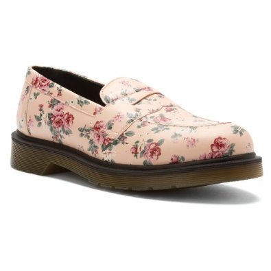 floral penny loafers