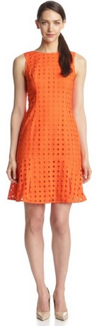 orange dress for the summer