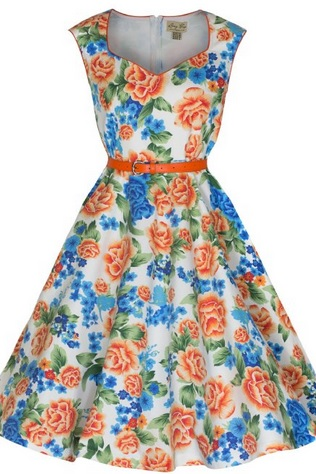 gorgeous vintage floral dress