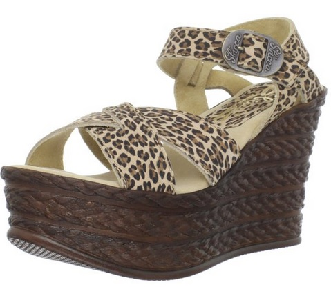 beautiful Ankle-Strap leopard print Sandal