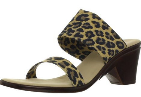comfy and stylish leopard print sandals
