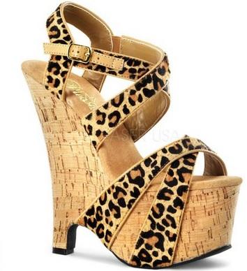 sexy leopard print Platform Sandals