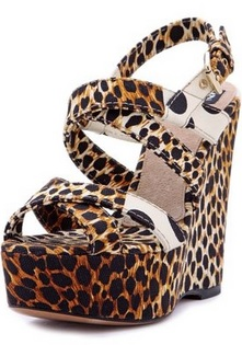 fancy leopard print sandals