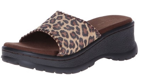 casual leopard sandals