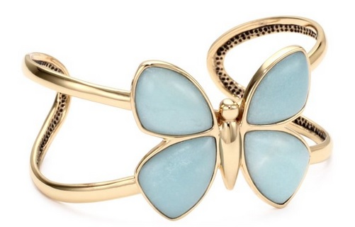 light blue butterfly bracelet