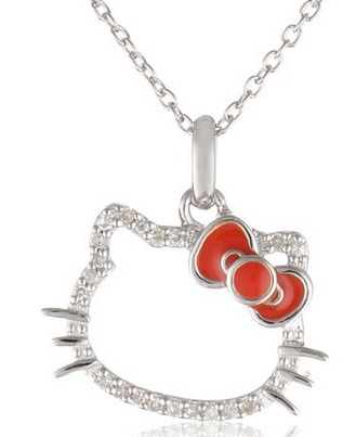 hello kitty diamond necklace
