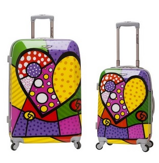 Cute Heart Print Suitcases