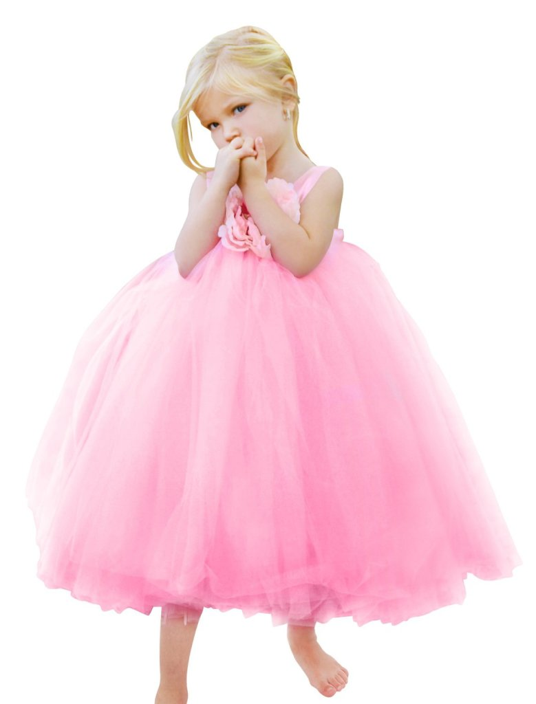 Adorable Light Pink Tutu Flower Girl Dress Ever