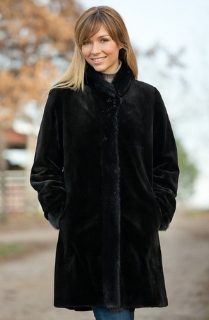 Black Mink Coat For Sale