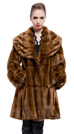 beautiful faux mink coat for women