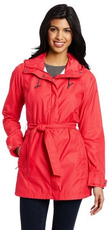 Beautiful RED Trench Rain Jacket for Women