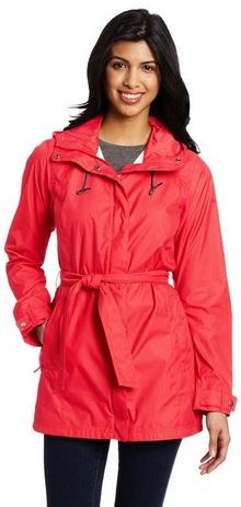 Beautiful RED Trench Rain Jacket for Women