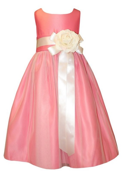 pink flower girl dress for toddlers