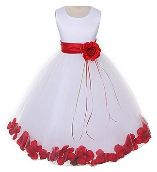 stunning rose petals flower girl dresses