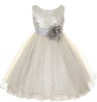 Sequin Mesh Flower Girl Dress in Many Colors