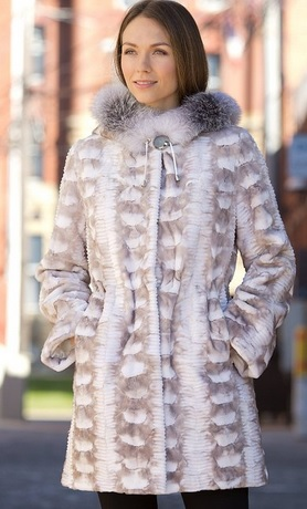 Fancy Women's Sheridan Danish Sheared Mink Fur Coat