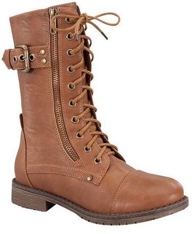 Cute Military Style Lace up Boots for Teen Girls